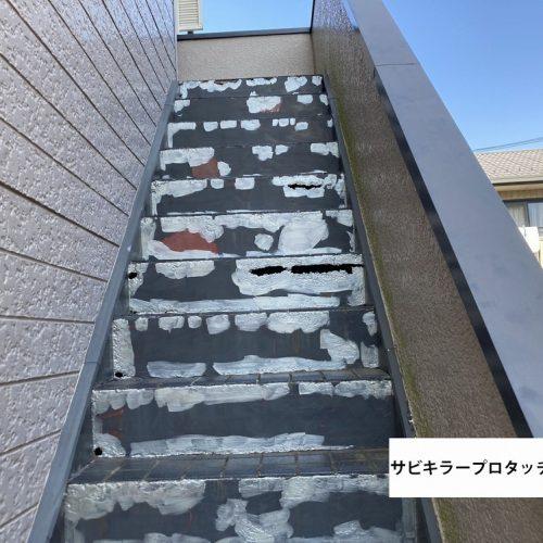 川崎市川崎区,2階建アパート 鉄部塗装
